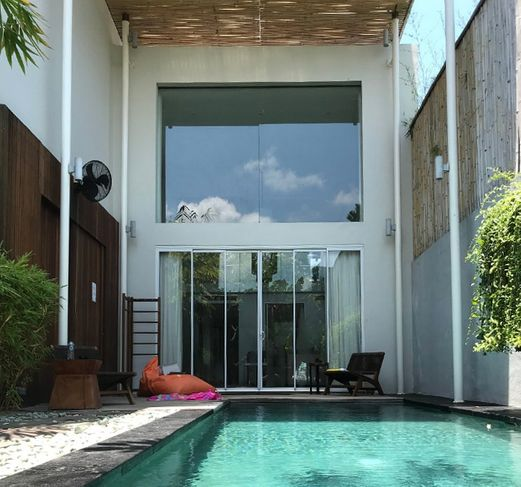 Private pool of 8 bedroom villa located at Seminyak